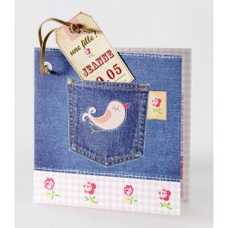 Faire-part naissance original jean's fille  Buromac Baby Folly 584.006