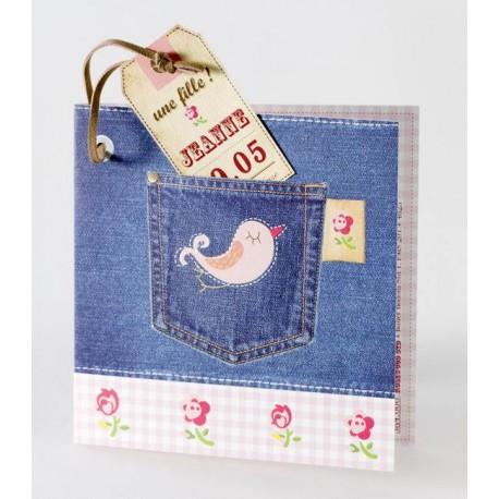 Faire-part naissance original jean's fille Buromac Baby Folly 584.006