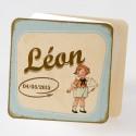 Faire-part de naissance vintage dépliant creme Buromac Baby Folly 584.022
