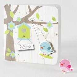 Faire-part naissance petit oiseaux Buromac Baby Folly 584.047