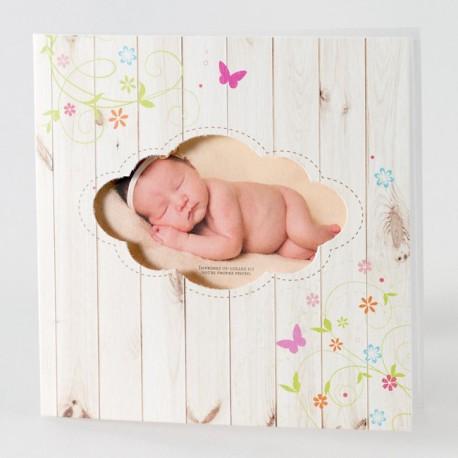 Faire part de naissance vintage photo Buromac Baby Folly 584.048