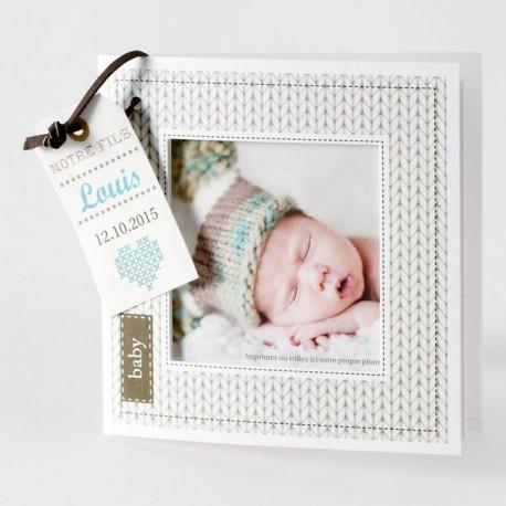 Faire-part naissance créatif jumeaux photo Buromac Baby Folly 584.049