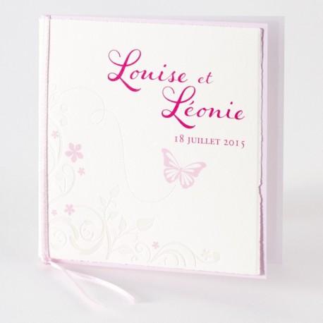 Faire part de naissance classique fille papillon rose Buromac Baby Folly 584.089