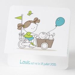 Faire-part de naissance dessin enfant petite soeur Buromac Baby Folly 584.097