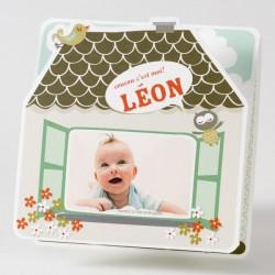 Faire-part de naissance depliant vintage garçon Buromac Baby Folly 584.125