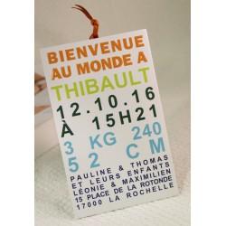 Faire-part naissancepochette bienvenue photo Faire Part Select Petite Forêt 89317B