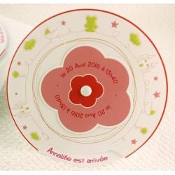 Faire-part naissance fille rond coulissant Faire Part Select Petite Forêt 89319C