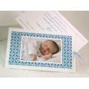 Faire-part naissance garçon photo pochette bleue Faire Part Select Petite Forêt 89348D