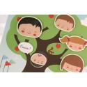 Faire-part naissance fantaisie famille nombreuse  Faire Part Select Petite Forêt 89368D