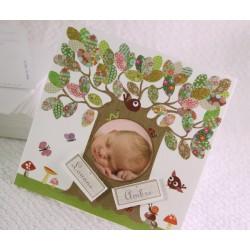 Faire-part naissance jumeaux nature photo Faire Part Select Petite Forêt 89370C