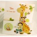 Faire-part naissance humoristique girafe Faire Part Select Petite Forêt 89372E