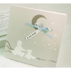 Faire-part naissance fantaisie nuit étoilée Faire Part Select Petite Forêt 89377D