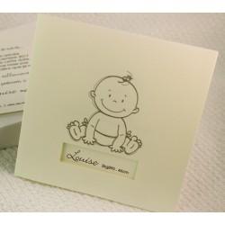 Faire-part naissance classique ivoire bébé Faire Part Select Petite Forêt 89382B