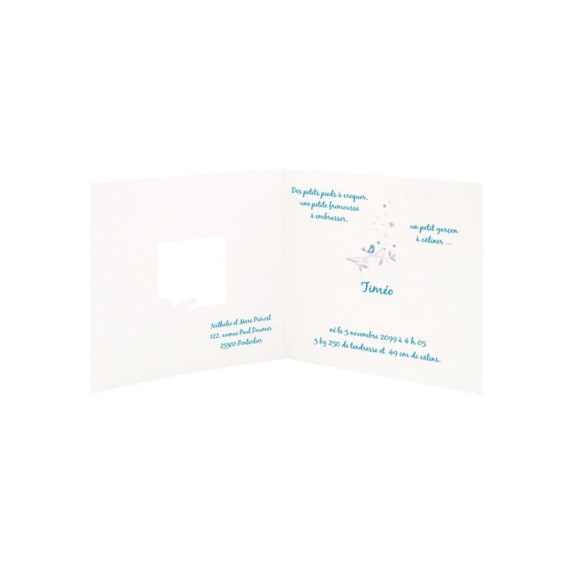 Faire part naissance garcon bleu lapin landeau regalb sucre d 39 orge csh720 - Faire part sucre d orge ...