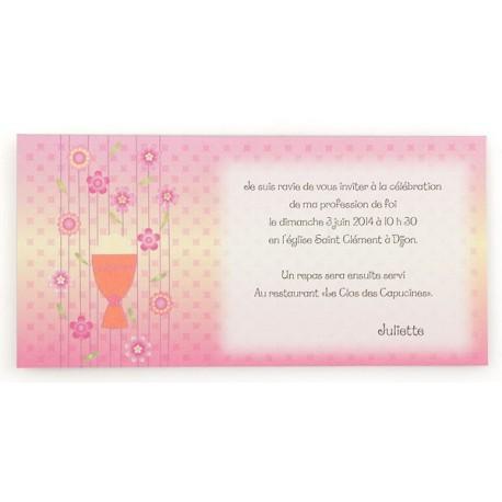 Carte Invitation Communion BUSQUET 2013