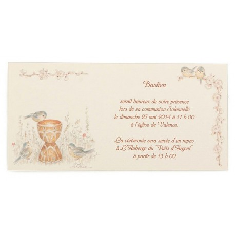 Berühmt Carte Invitation Communion BUSQUET 2013 YA71