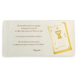 Carte Invitation Communion  BUSQUET 2013