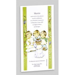 Carte invitation communion REGALB
