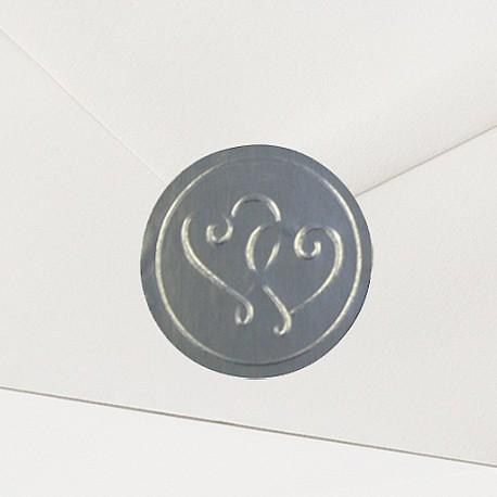 Timbre de Scellage coeurs argent - Belarto Love 726111P