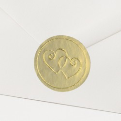 Timbre de Scellage coeurs dorés - Belarto Love 726110P