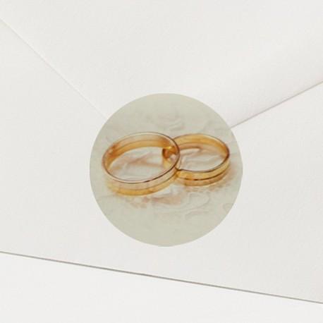 Timbre de Scellage alliances dorées - Belarto Lov 726310P