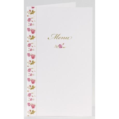 Menu vintage fleurs roses Buromac La Vie en Rose 206.024