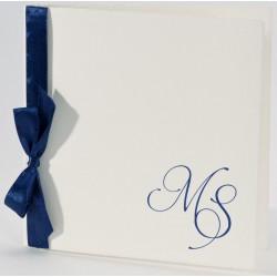 Faire-part mariage vintage ruban bleu Buromac La Vie en Rose 106.103