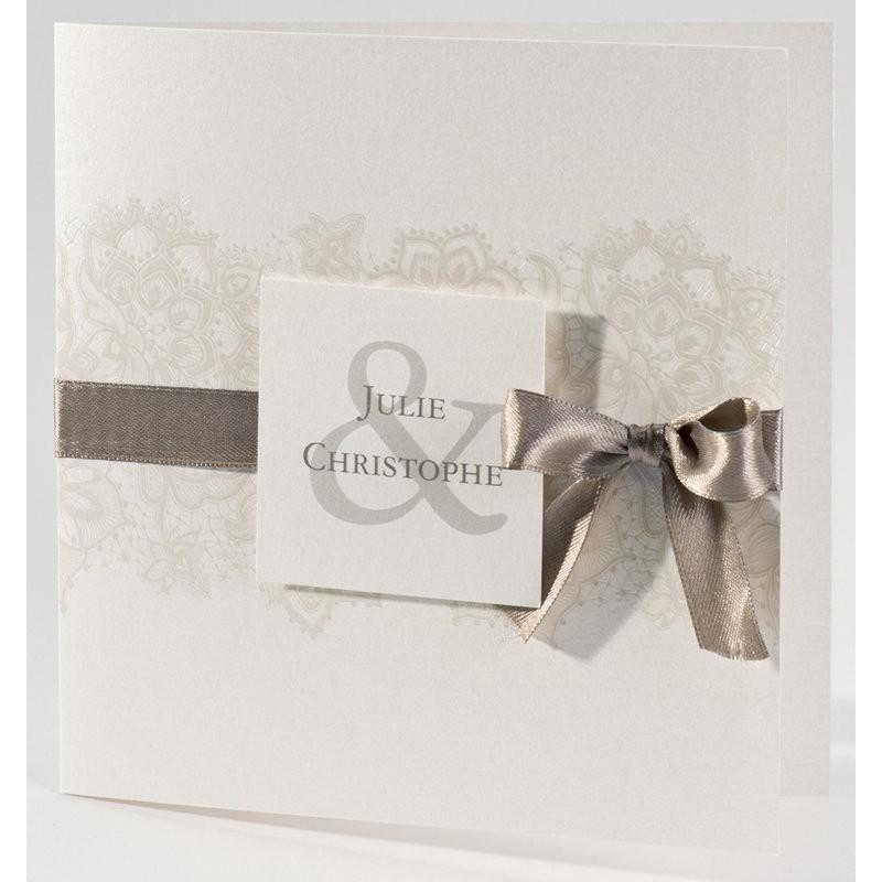 faire part mariage vintage fleurs dentelle nacre buromac. Black Bedroom Furniture Sets. Home Design Ideas