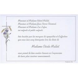 Carte de remerciement décès, deuil, funérailles, condoléances, obsèques  BUROMAC 670.005