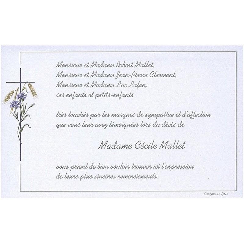 Top Toutes nos cartes de remerciement de décès avec croix catholique LE64