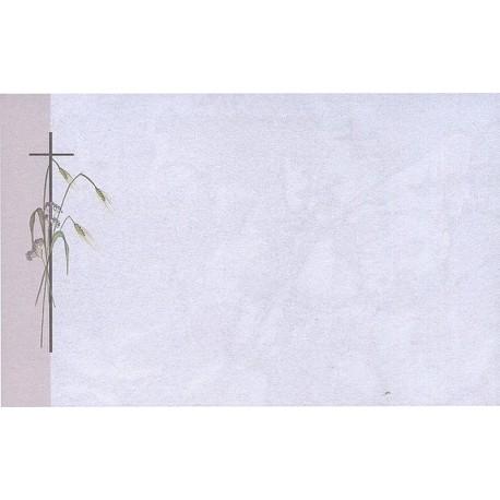 Carte de remerciement décés, deuil, funérailles, condoléances, obsèques BUROMAC 670.002