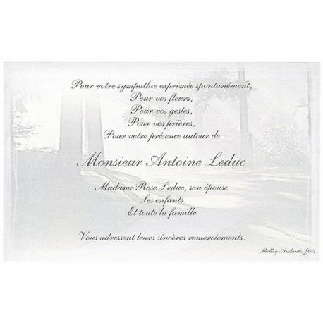 Carte de remerciement décés, deuil, funérailles, condoléances, obsèques BUROMAC 670.049
