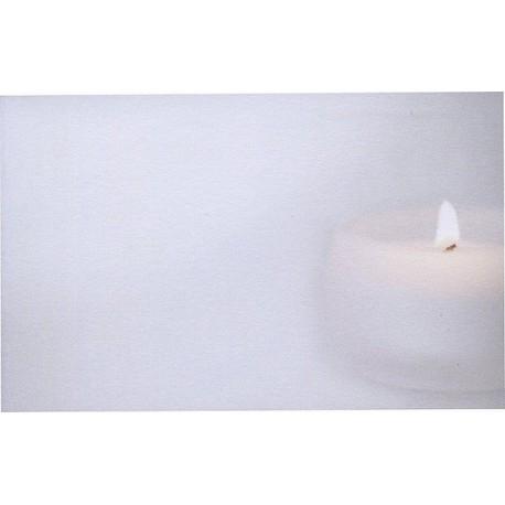 Carte de remerciement décés, deuil, funérailles, condoléances, obsèques BUROMAC 670.127