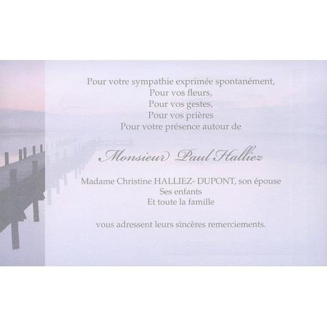 Carte de remerciement décès, deuil, funérailles, condoléances, obsèques BUROMAC 670.154