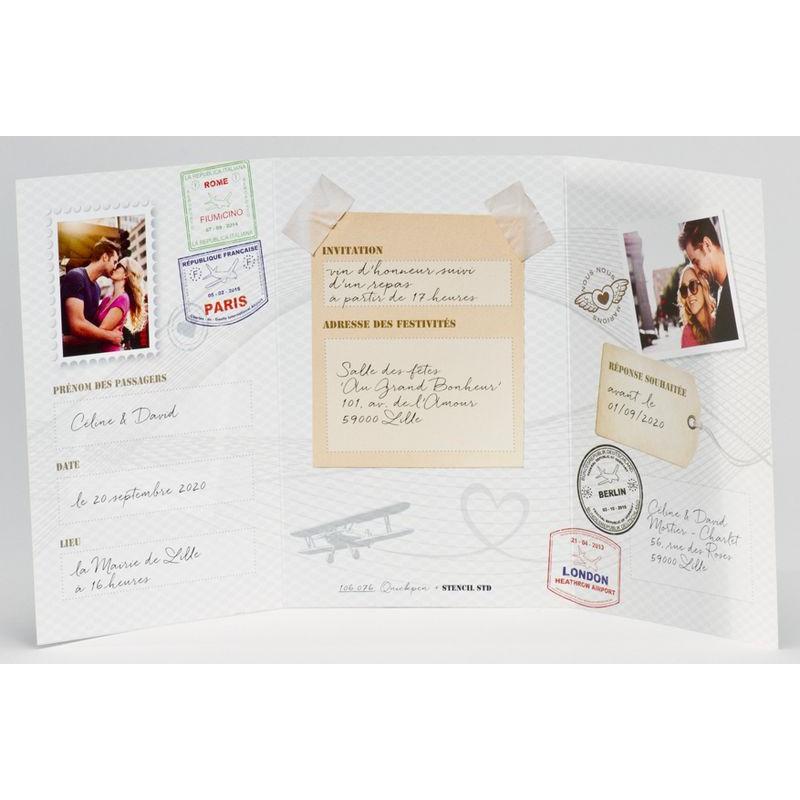 faire part mariage original passeport photo buromac la vie. Black Bedroom Furniture Sets. Home Design Ideas