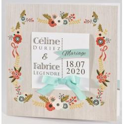 Faire-part mariage nature fleur multicolore Buromac La Vie en Rose 106.035
