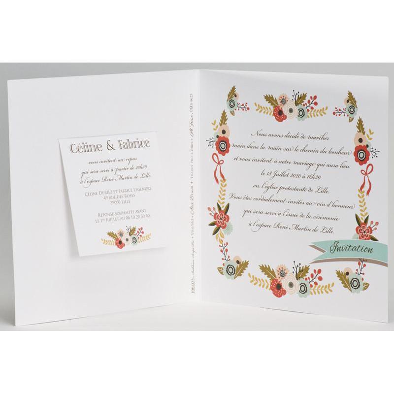 Extrêmement part mariage nature fleur multicolore Buromac La Vie en Rose 106.035 EJ49