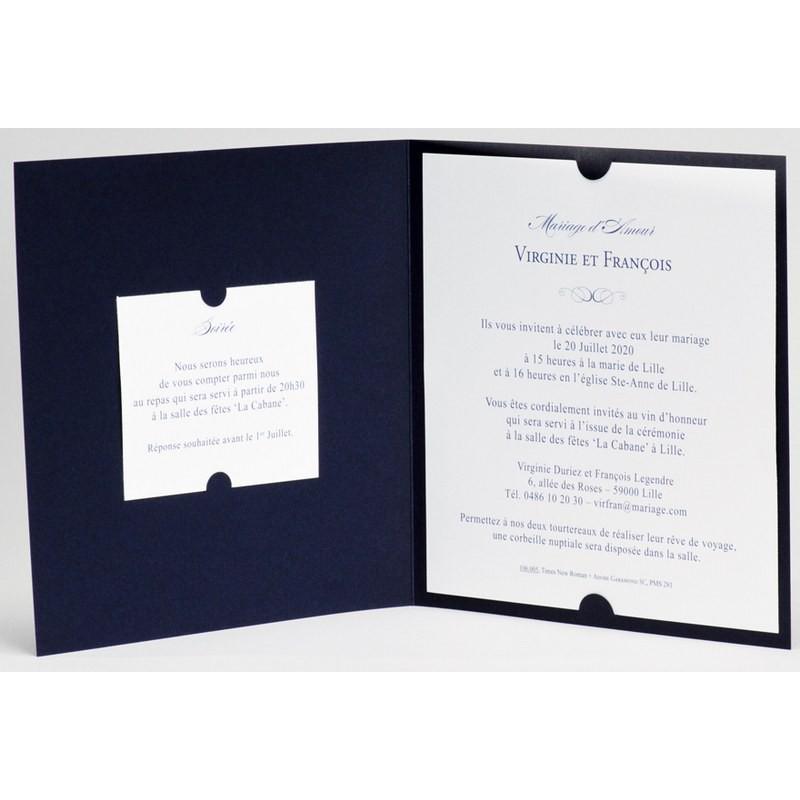 Extrêmement part mariage lassique bleu marine plume Buromac La Vie en Rose 106.005 GU14