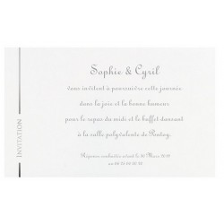 Carte invitation blanc cassé martelé REGALB Toi&Moi 2018 KC4813