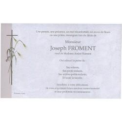 Carte de remerciement décés, deuil, funérailles, condoléances, obsèques BUROMAC 641.002