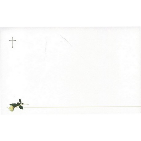 Carte de remerciement décés, deuil, funérailles, condoléances, obsèques BUROMAC 641.041