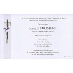 Carte de remerciement décés, deuil, funérailles, condoléances, obsèques BUROMAC 641.044
