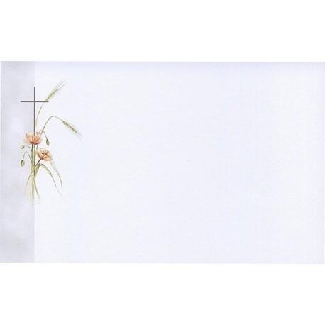 Carte de remerciement décés, deuil, funérailles, condoléances, obsèques BUROMAC 641.090