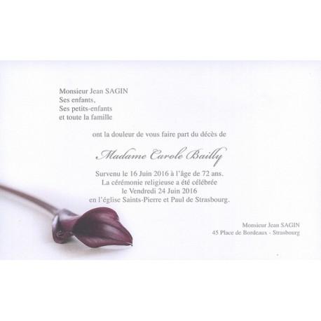 Carte de remerciement décés, deuil, funérailles, condoléances, obsèques BUROMAC 641.153
