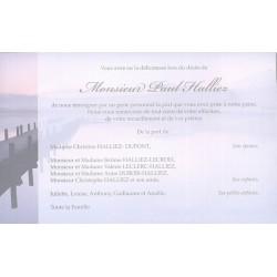 Carte de remerciement décés, deuil, funérailles, condoléances, obsèques  BUROMAC 641.154