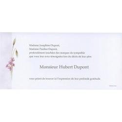 Carte de remerciement décés, deuil, funérailles, condoléances, obsèques BUROMAC 644.008