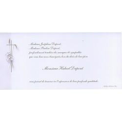 Carte de remerciement décés, deuil, funérailles, condoléances, obsèques BUROMAC 644.010