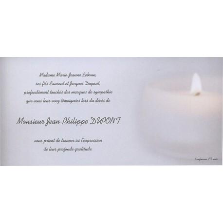 Carte de remerciement décés, deuil, funérailles, condoléances, obsèques BUROMAC 644.127