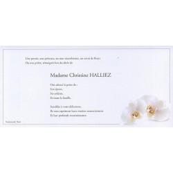 Carte de remerciement décés, deuil, funérailles, condoléances, obsèques BUROMAC 644.128