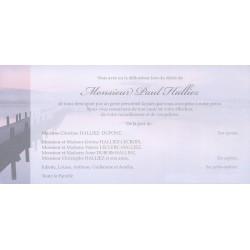 Carte de remerciement décès, deuil, funérailles, condoléances, obsèques BUROMAC 644.154